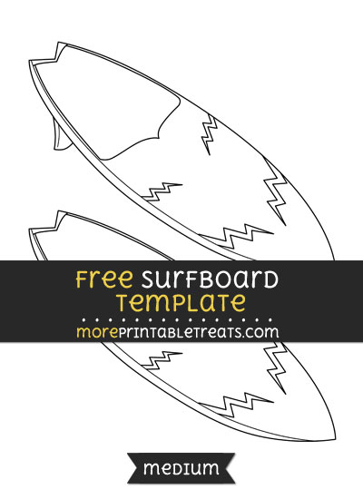 Free Surfboard Template - Medium