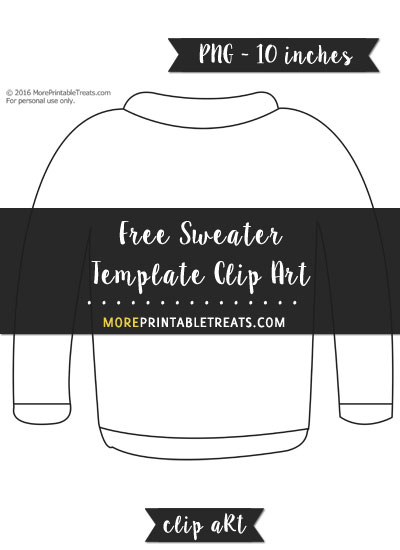 Free Sweater Template - Clipart