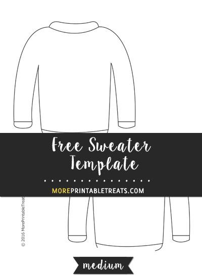 Free Sweater Template - Medium Size