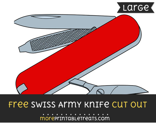 Free Swiss Army Knife Cut Out - Large size printable