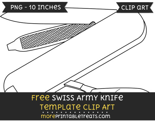 Free Swiss Army Knife Template - Clipart