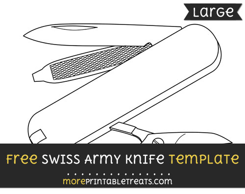 Free Swiss Army Knife Template - Large