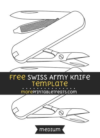 Free Swiss Army Knife Template - Medium
