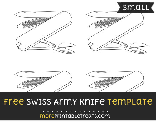 Free Swiss Army Knife Template - Small