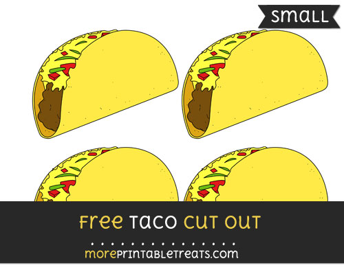 Free Taco Cut Out - Small Size Printable