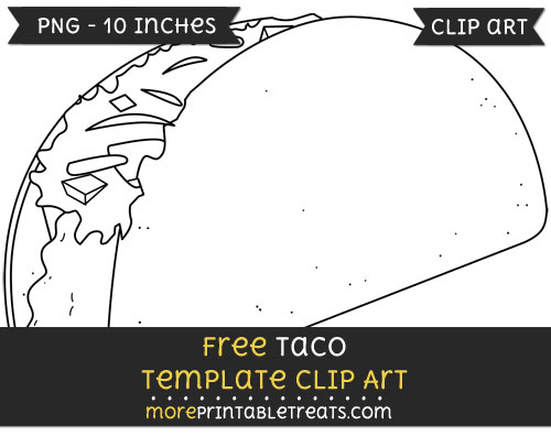 Free Taco Template - Clipart