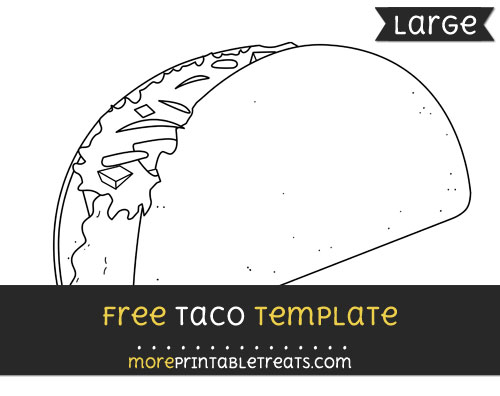 Free Taco Template - Large
