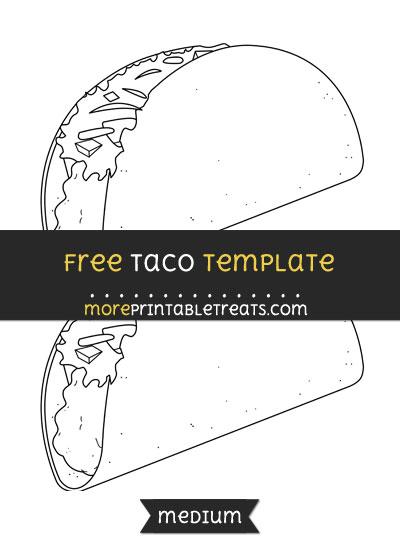 Free Taco Template - Medium