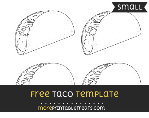 Free Taco Template - Small