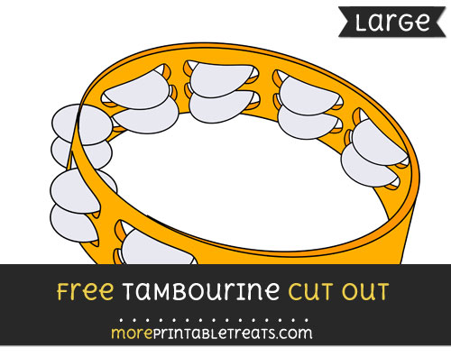 Free Tambourine Cut Out - Large size printable
