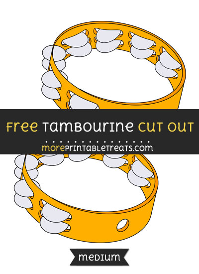 Free Tambourine Cut Out - Medium Size Printable