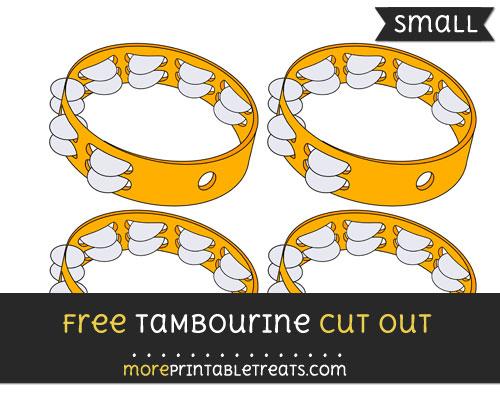 Free Tambourine Cut Out - Small Size Printable