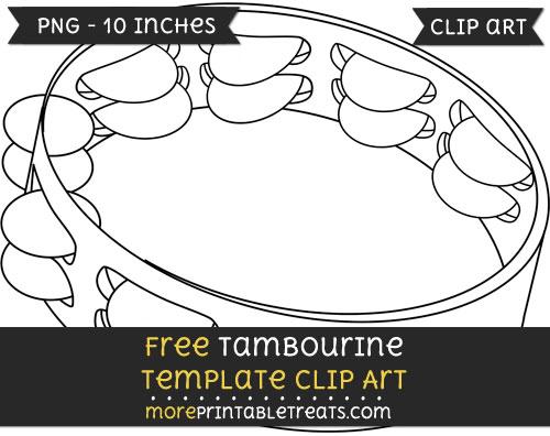 Free Tambourine Template - Clipart
