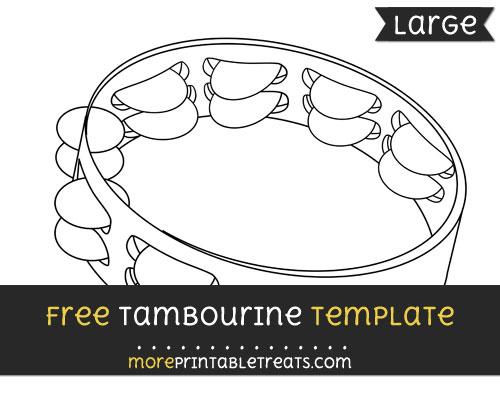 Free Tambourine Template - Large