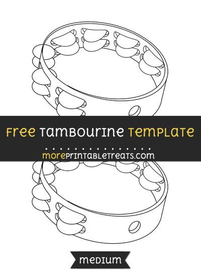 Free Tambourine Template - Medium