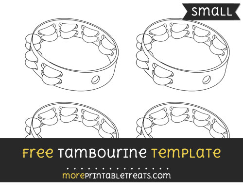 Free Tambourine Template - Small