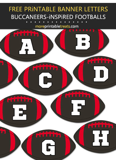 Free Printable Tampa Bay Buccaneers-Inspired Football Alphabet