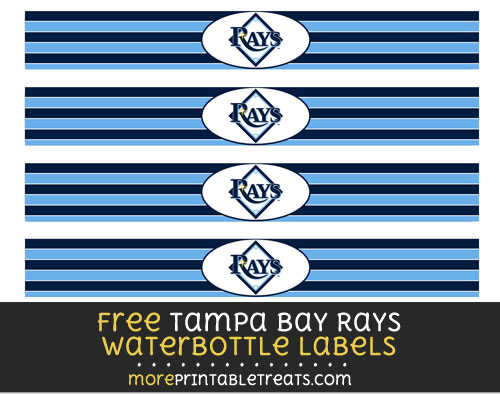 Free Tampa Bay Rays Water Bottle Labels to Print