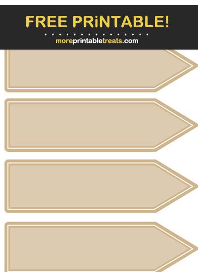 Free Printable Tan Arrow Flag Labels