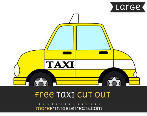 Free Taxi Cut Out - Large size printable