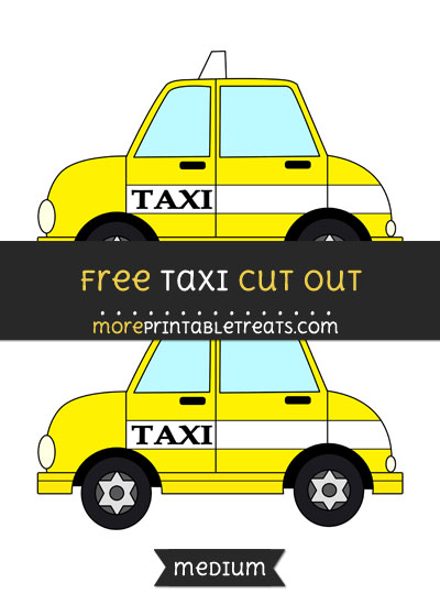 Free Taxi Cut Out - Medium Size Printable