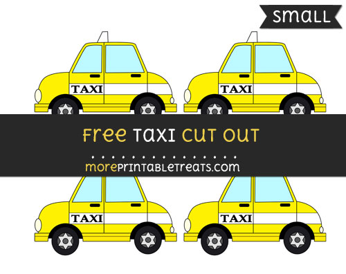 Free Taxi Cut Out - Small Size Printable