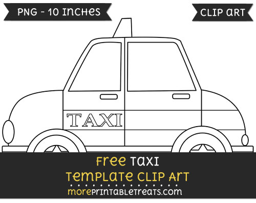 Free Taxi Template - Clipart