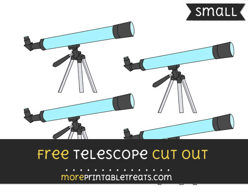 Free Telescope Cut Out - Small Size Printable
