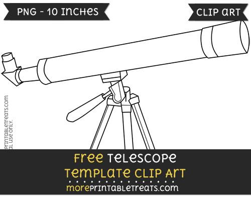 Free Telescope Template - Clipart