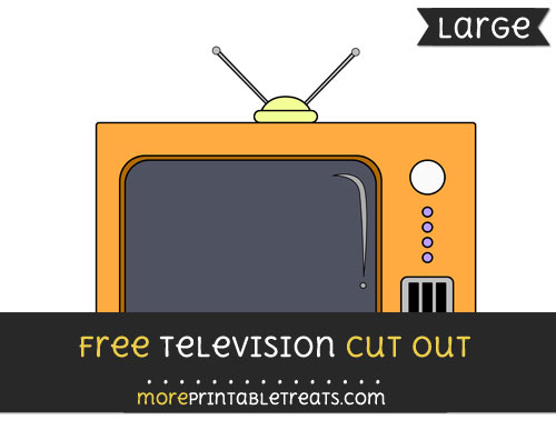 Free Television Cut Out - Large size printable