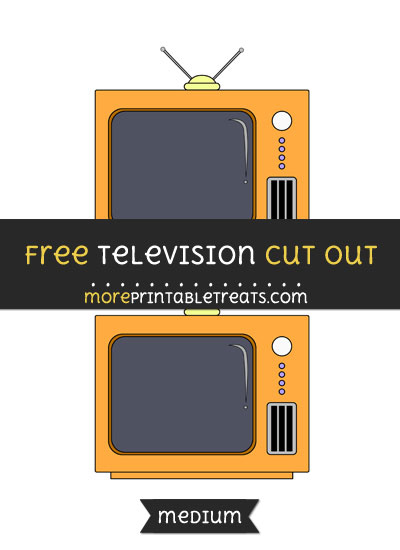 Free Television Cut Out - Medium Size Printable