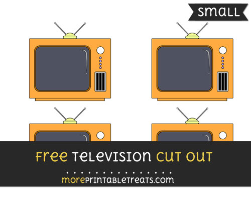 Free Television Cut Out - Small Size Printable