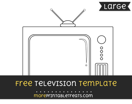 Free Television Template - Large