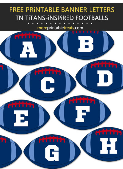 Free Printable Tennessee Titans-Inspired Football Alphabet