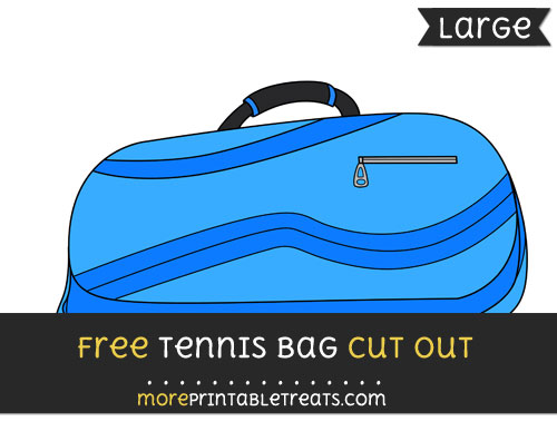 Free Tennis Bag Cut Out - Large size printable