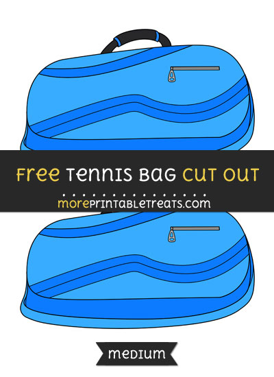 Free Tennis Bag Cut Out - Medium Size Printable