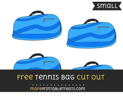 Free Tennis Bag Cut Out - Small Size Printable