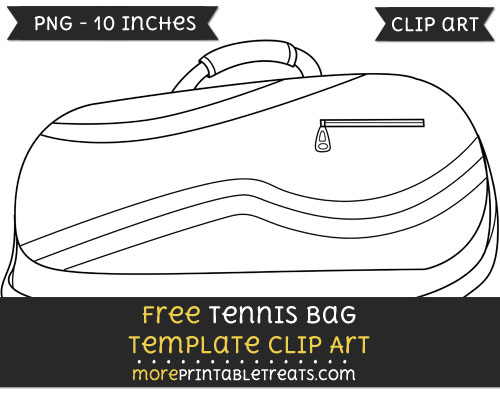Free Tennis Bag Template - Clipart