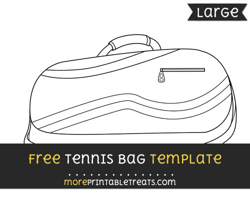 Free Tennis Bag Template - Large