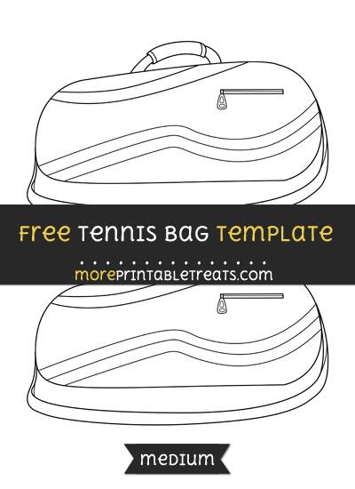 Free Tennis Bag Template - Medium