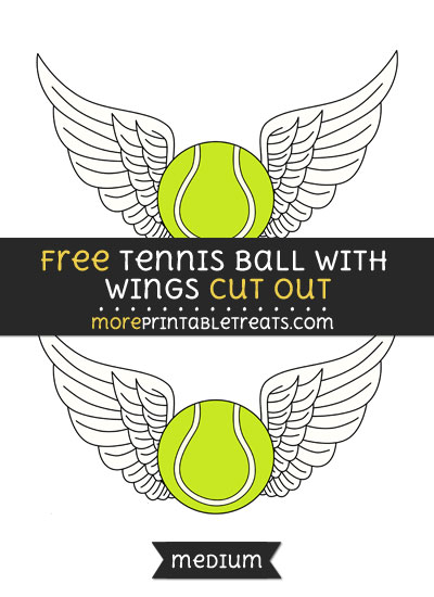 Free Tennis Ball With Wings Cut Out - Medium Size Printable