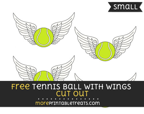 Free Tennis Ball With Wings Cut Out - Small Size Printable