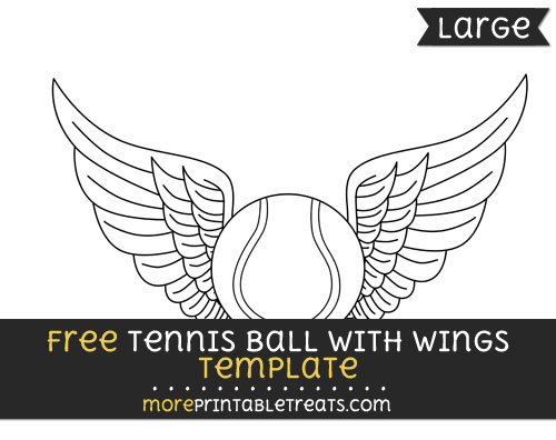Free Tennis Ball With Wings Template - Large