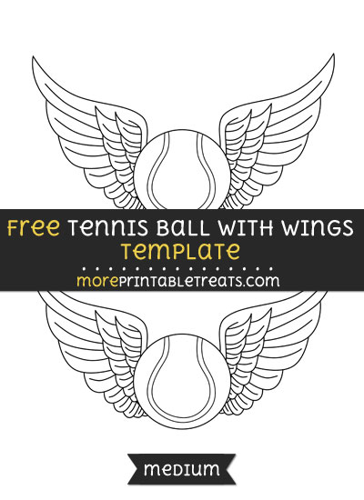 Free Tennis Ball With Wings Template - Medium