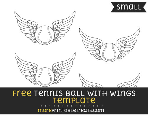 Free Tennis Ball With Wings Template - Small