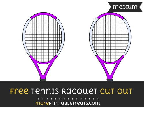Free Tennis Racquet Cut Out - Medium Size Printable