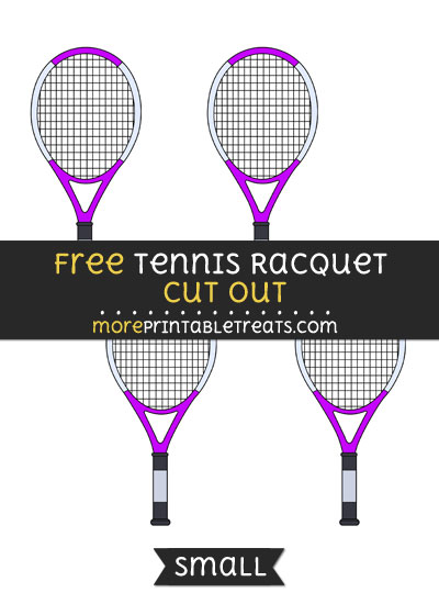 Free Tennis Racquet Cut Out - Small Size Printable