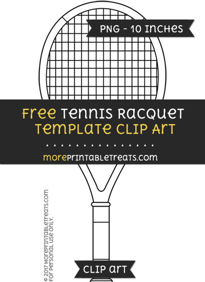 Free Tennis Racquet Template - Clipart