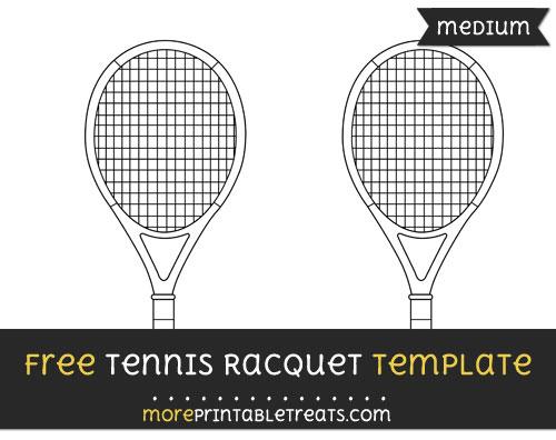 Free Tennis Racquet Template - Medium