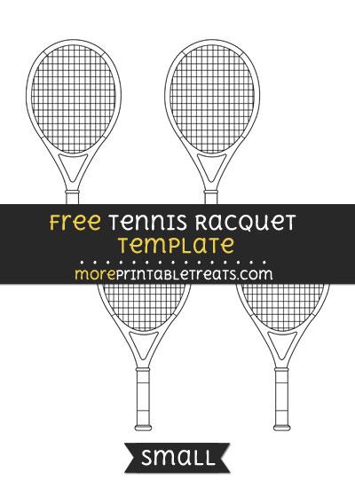 Free Tennis Racquet Template - Small